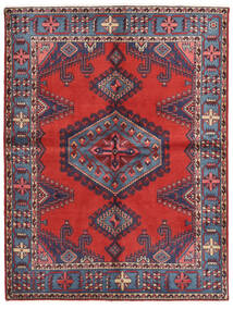 Wiss Tapis 156X205 D'orient Fait Main Violet Foncé/Rouille/Rouge (Laine, Perse/Iran)