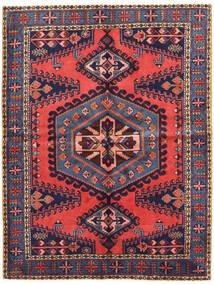 Wiss Tapis 161X213 D'orient Fait Main Violet Foncé/Rouge Foncé (Laine, Perse/Iran)