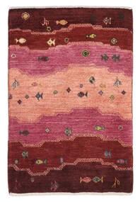 Gabbeh Persan Tapis 59X90 Moderne Fait Main Rouge Foncé/Rose Clair (Laine, Perse/Iran)