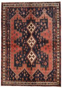 Afshar Tapis 160X225 D'orient Fait Main Gris Foncé/Rouge Foncé (Laine, Perse/Iran)
