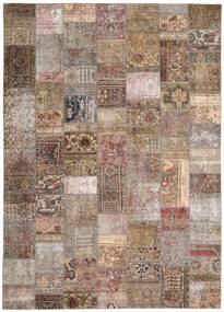 Patchwork - Persien/Iran Tapis 254X351 Moderne Fait Main Gris Clair/Marron Grand (Laine, Perse/Iran)