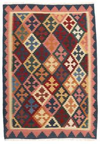 Kilim Tapis 103X150 D'orient Tissé À La Main Gris Foncé/Rouge Foncé (Laine, Perse/Iran)
