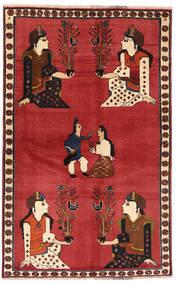 Ghashghaï Tapis 128X200 D'orient Fait Main Rouille/Rouge/Rouge Foncé (Laine, Perse/Iran)