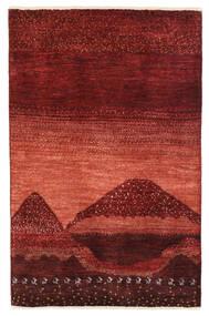 Gabbeh Persan Tapis 79X122 Moderne Fait Main Rouge Foncé (Laine, Perse/Iran)