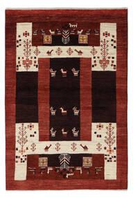 Gabbeh Persan Tapis 100X147 Moderne Fait Main Rouge Foncé (Laine, Perse/Iran)