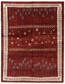 Gabbeh Persan Tapis 160X203 Moderne Fait Main Rouge Foncé (Laine, Perse/Iran)