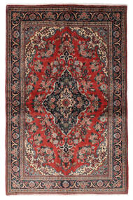 Ghom Kork/Soie Tapis 139X212 D'orient Fait Main Rouge Foncé/Noir (Laine/Soie, Perse/Iran)