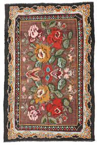 Kilim Rose Moldavia Tapis 134X204 D'orient Tissé À La Main Rouge Foncé/Noir (Laine, Moldavie)