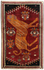 Ghashghaï Tapis 118X188 D'orient Fait Main Rouge Foncé/Rouille/Rouge (Laine, Perse/Iran)