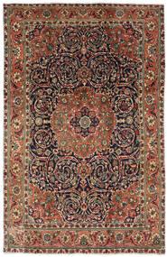 Tabriz Tapis 196X308 D'orient Fait Main Marron Foncé/Gris Foncé (Laine, Perse/Iran)
