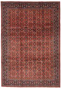 Mahal Tapis 219X313 D'orient Fait Main Rouge Foncé/Marron Foncé (Laine, Perse/Iran)