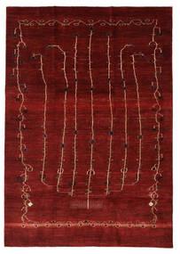 Gabbeh Persan Tapis 201X283 Moderne Fait Main Rouge/Rouge Foncé (Laine, Perse/Iran)