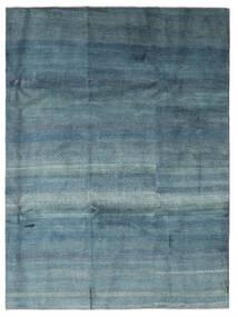 Gabbeh Persan Tapis 217X290 Moderne Fait Main Bleu/Bleu Clair (Laine, Perse/Iran)