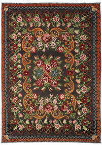 Kilim Rose Moldavia Tapis 191X282 D'orient Tissé À La Main Noir/Vert Foncé (Laine, Moldavie)