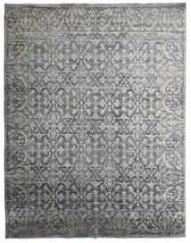 Damask Indo Tapis 231X295 Moderne Fait Main Gris Clair/Gris Foncé (Laine/Soie De Bambou, Inde)
