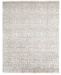 Damask Indo Tapis 242X303 Moderne Fait Main Gris Clair/Beige (Laine/Soie De Bambou, Inde)