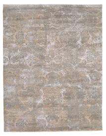 Damask Indo Tapis 244X308 Moderne Fait Main Gris Clair (Laine/Soie De Bambou, Inde)