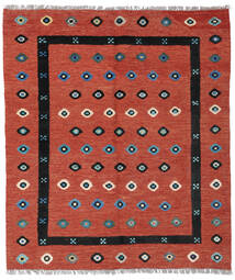 Kilim Nimbaft Tapis 160X186 Moderne Tissé À La Main Rouge Foncé/Rouille/Rouge (Laine, Afghanistan)
