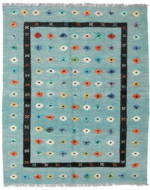 Kilim Nimbaft Tapis 157X200 Moderne Tissé À La Main Vert Pastel/Bleu Turquoise (Laine, Afghanistan)