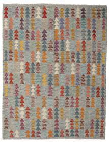Kilim Afghan Old Style Tapis 153X196 D'orient Tissé À La Main Gris Clair/Gris Foncé (Laine, Afghanistan)