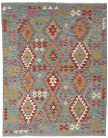 Kilim Afghan Old Style Tapis 152X195 D'orient Tissé À La Main Gris Foncé/Marron Clair (Laine, Afghanistan)