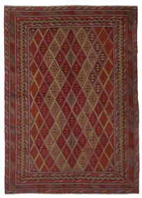 Kilim Golbarjasta Tapis 205X285 D'orient Tissé À La Main Noir/Marron Foncé (Laine, Afghanistan)