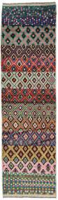Moroccan Berber - Afghanistan Tapis 78X282 Moderne Fait Main Tapis Couloir Noir/Rouge Foncé (Laine, Afghanistan)