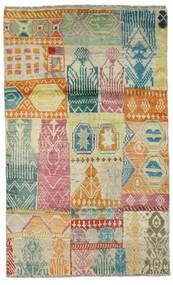 Moroccan Berber - Afghanistan Tapis 115X191 Moderne Fait Main Beige Foncé/Vert Clair (Laine, Afghanistan)