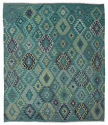 Kilim Afghan Old Style Tapis 215X245 D'orient Tissé À La Main Bleu Turquoise/Bleu (Laine, Afghanistan)