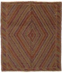 Kilim Golbarjasta Tapis 155X185 D'orient Tissé À La Main Marron Foncé/Noir (Laine, Afghanistan)