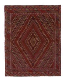 Kilim Golbarjasta Tapis 143X185 D'orient Tissé À La Main Noir/Blanc/Crème (Laine, Afghanistan)
