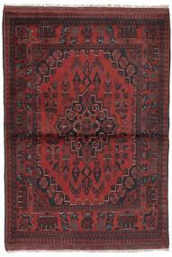 Afghan Khal Mohammadi Tapis 96X147 D'orient Fait Main Noir/Marron Foncé (Laine, Afghanistan)