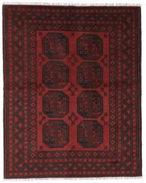 Afghan Tapis 146X186 D'orient Fait Main Noir/Rouge Foncé (Laine, Afghanistan)