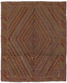 Kilim Golbarjasta Tapis 145X180 D'orient Tissé À La Main Marron Foncé/Noir (Laine, Afghanistan)