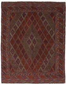 Kilim Golbarjasta Tapis 150X190 D'orient Tissé À La Main Noir/Marron Foncé (Laine, Afghanistan)
