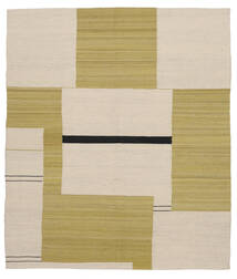 Kilim Moderne Tapis 165X188 Moderne Tissé À La Main Vert Olive/Marron Clair (Laine, Afghanistan)