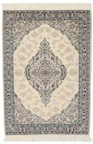 Naïn 9La Tapis 100X146 D'orient Fait Main Gris Foncé/Marron Clair (Laine/Soie, Perse/Iran)