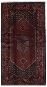 Hamadan Tapis 107X200 D'orient Fait Main Noir (Laine, Perse/Iran)