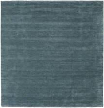 Handloom Fringes - Secondaire Tapis 250X250 Moderne Carré Bleu Foncé Grand (Laine, Inde)