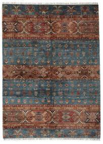 Shabargan Tapis 180X247 Moderne Fait Main Noir/Marron Foncé (Laine, Afghanistan)