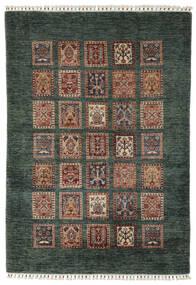 Shabargan Tapis 119X176 Moderne Fait Main Noir/Marron Foncé (Laine, Afghanistan)