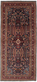 Mahal Tapis 133X300 D'orient Fait Main Tapis Couloir Noir/Marron Foncé (Laine, Perse/Iran)