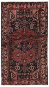 Hamadan Tapis 101X186 D'orient Fait Main Noir/Marron Foncé (Laine, Perse/Iran)
