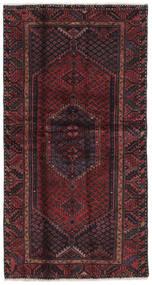 Hamadan Tapis 104X197 D'orient Fait Main Noir/Marron Foncé (Laine, Perse/Iran)