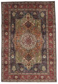 Tabriz Tapis 208X297 D'orient Fait Main Marron Foncé/Noir (Laine, Perse/Iran)