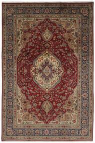 Tabriz Tapis 206X304 D'orient Fait Main Marron Foncé/Noir (Laine, Perse/Iran)