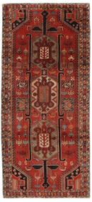 Ardabil Tapis 140X308 D'orient Fait Main Tapis Couloir Noir/Rouge Foncé (Laine, Perse/Iran)