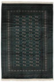 Pakistan Boukhara 2Ply Tapis 190X277 D'orient Fait Main Noir (Laine, Pakistan)