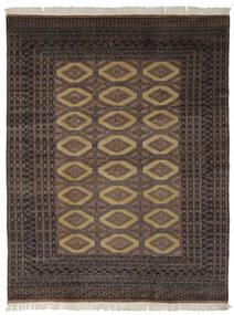 Pakistan Boukhara 2Ply Tapis 191X244 D'orient Fait Main Noir/Marron Foncé (Laine, Pakistan)