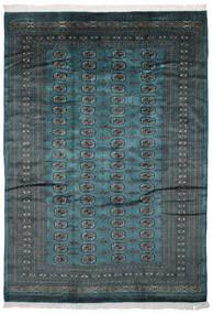 Pakistan Boukhara 2Ply Tapis 187X262 D'orient Fait Main Noir/Turquoise Foncé (Laine, Pakistan)